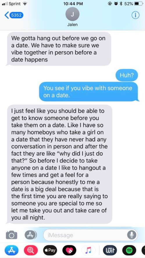 hang out before dating
